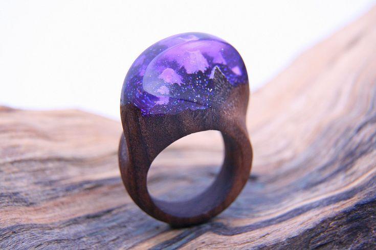 Green Wood - Деревянные Кольца, wooden rings www.greenwood44.com Wooden Ring Resin Ring Magic Ring