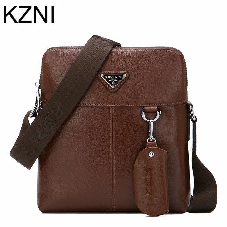 (54.88$)  Watch more here  - KZNI bags Men designer handbags high quality genuine leather bags for Men bolsas femininas bolsas de marcas famosas L031501