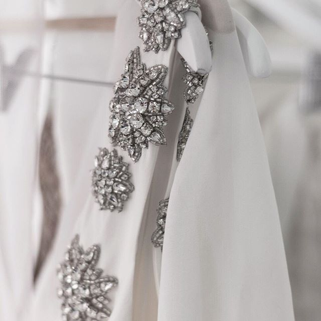 DEATILS | This incredible embellishment featured on the Yves Gown | #wedding #bride #chosenbride #chosen #yvesgown  #Regram via @chosenbyoneday
