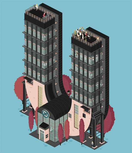 Animated typography building illustrations - what's not to love? | Animation | Creative Bloq