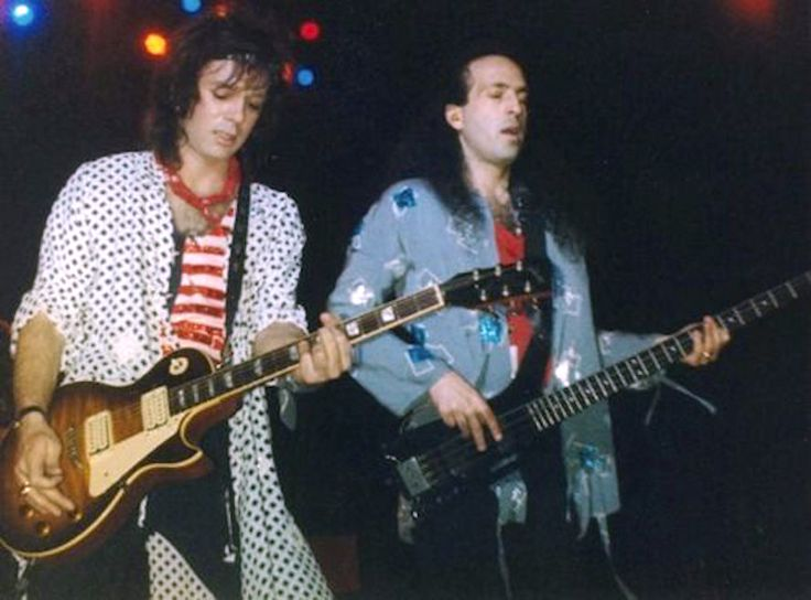 Alan Merrill and Steve Buslowe, Meat Loaf world tour 1988.