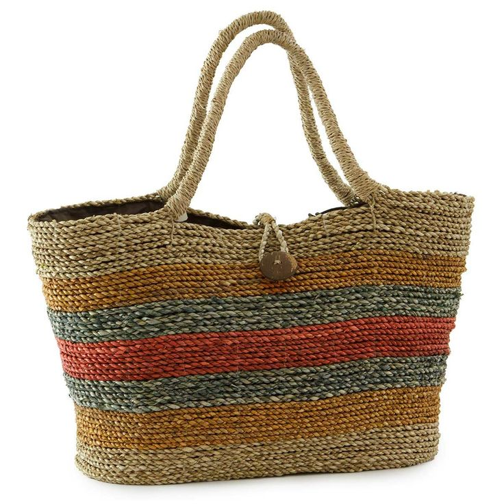 Borsa mare in paglia Righe multicolore http://www.carillobiancheria.it/borsa-mare-in-paglia-righe-multicolore-n060.html