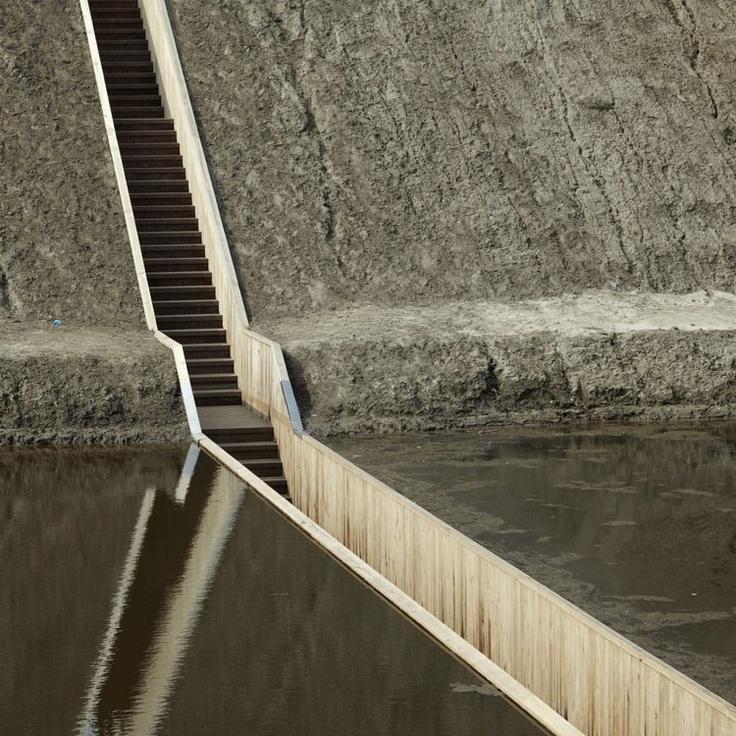 Holanda , puente Moses Madera acetilada