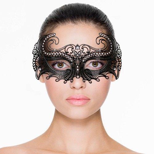 Metalen Venetiaans Masker - Zwart