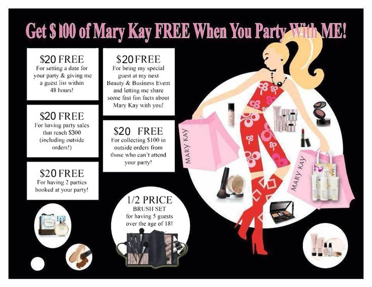 Mary Kay party idea. As a Mary Kay beauty consultant I can help you, please let me know what you would like or need. www.marykay.com/KathleenJohnson www.facebook.com/KathysDaySpa.....