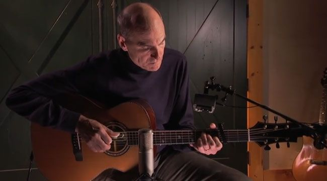 How cool is this? Free guitar lessons from James Taylor.