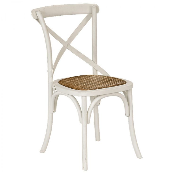 Provincial Cross Back Chair Crisp White - Chairs & Barstools - Dining