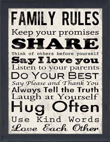 Rules we try to live byDecor, Wall Art, Ideas, Inspiration, Quotes, Living Room, House, Family Rules, Families Rules