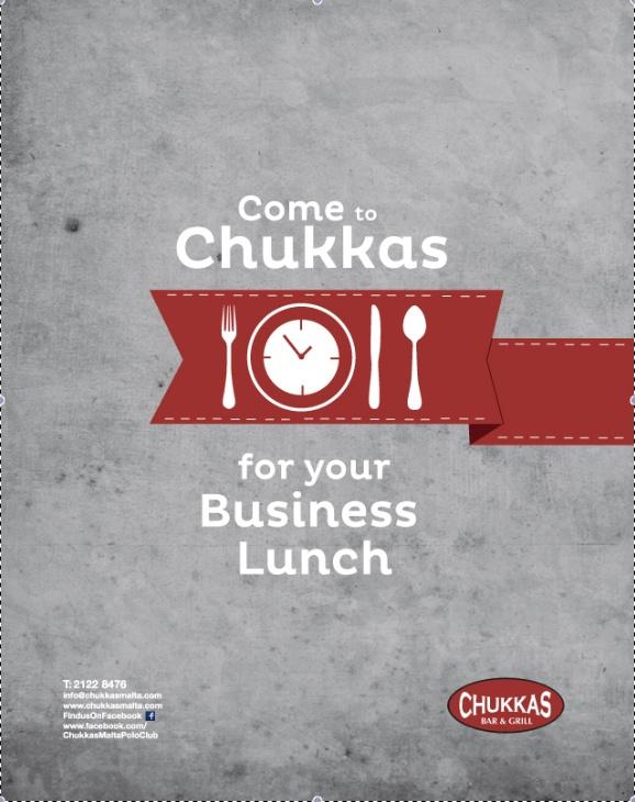Chukkas restaurant advertising by Anna D'Alessandro, via Behance