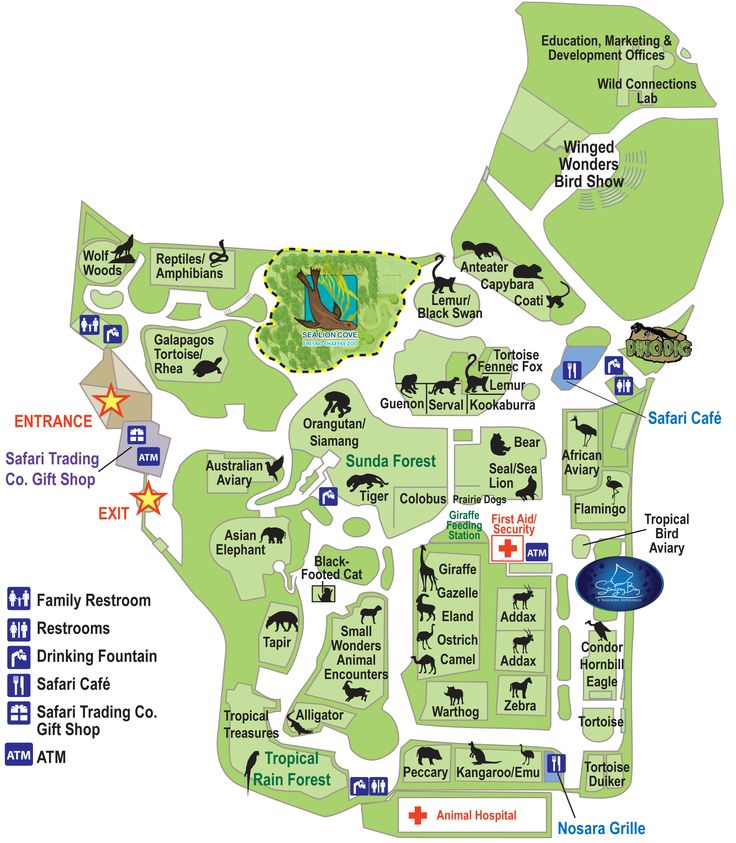 182 Best Zoos Around The World Images On Pinterest Maps 50th: Los Angeles Zoo Map At Infoasik.co