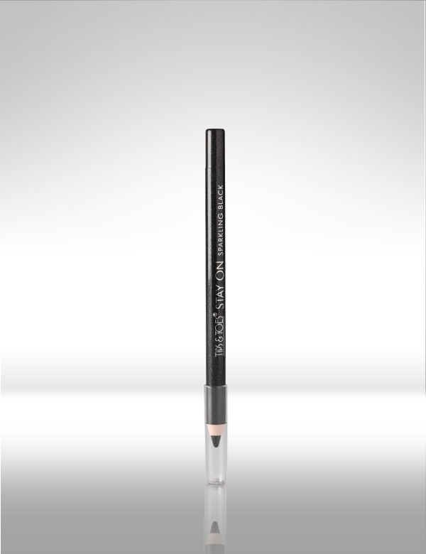 Stay-on #Sparkling #Black #Pencil. Sparkle up your eyes with the smudge free, even, flawless formula.  It stays on your eyes with a superb long lasting effect. MRP Rs.195/-