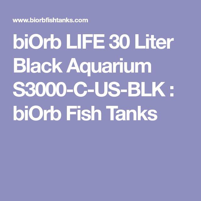 biOrb LIFE 30 Liter Black Aquarium S3000-C-US-BLK : biOrb Fish Tanks