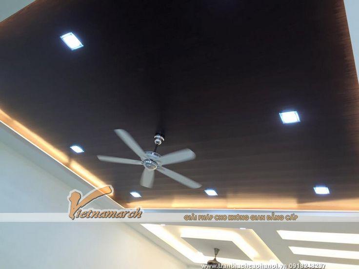 Hoàn thiện trần thạch cao phòng khách cho nhà chị Tâm ở Khương Đình - Thanh Xuân