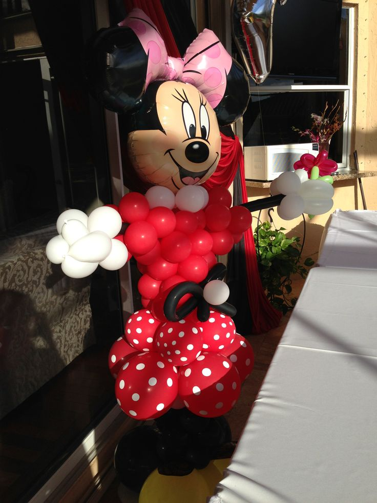 22 best mickey and minnie theme party decoration images on for Balloon decoration minnie mouse