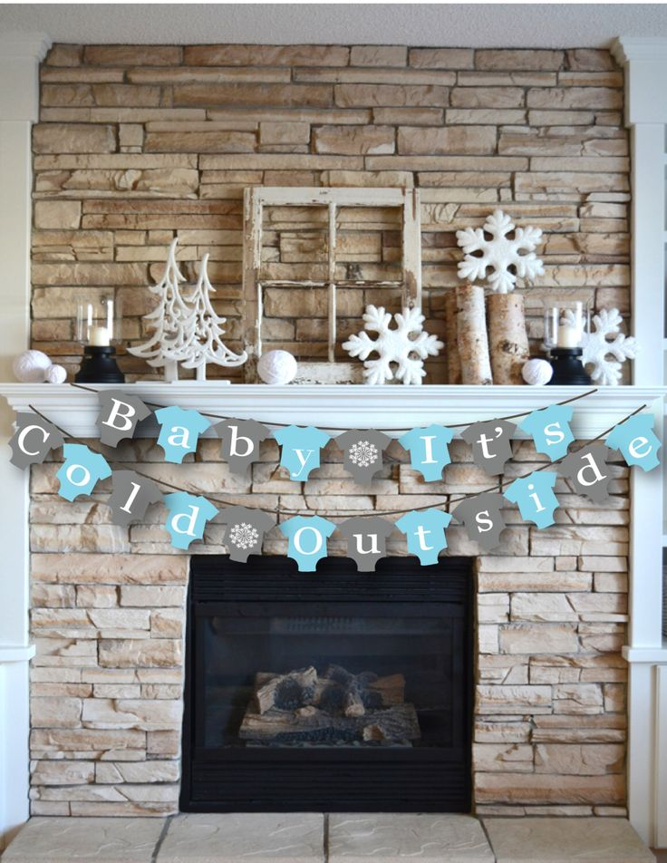 INSTANT DOWNLOAD Baby It's Cold Outside Banner Onesie Printable Boy Snowflakes Winter Shower Blue Shower Banner Baby Sprinkle Decor by ElegantlySimpleInc on Etsy https://www.etsy.com/listing/258418751/instant-download-baby-its-cold-outside