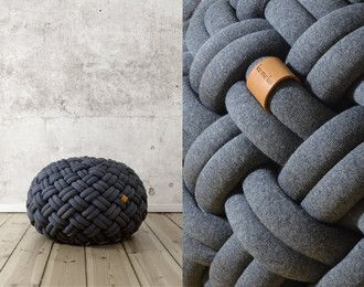 Knotty Floor Cushion By Kumekodesign