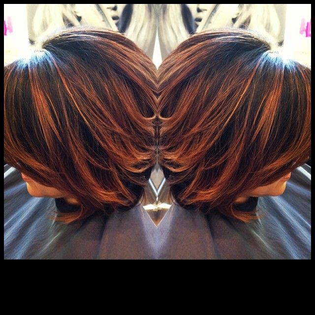 ... hair copper bronze highlighted hair beauty fashion hair styles bronze