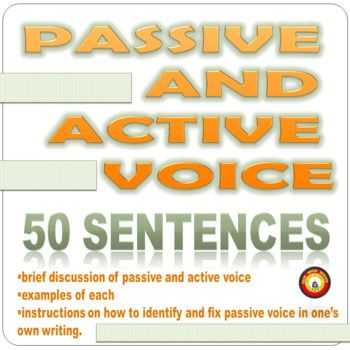 use active voice writing activities