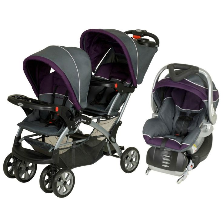 The Tandem Sit N Stand Double Travel System Accepts Two