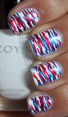 Patrioti camo nails Fourth of July, Labor Day, Memorial Day   Rin's Nail Files: 4th of July Inspired Design week.....
