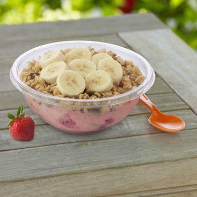 Chunky Strawberry Frozen Energy Bowl Recipe - copycat from Jamba Juice. SO good!