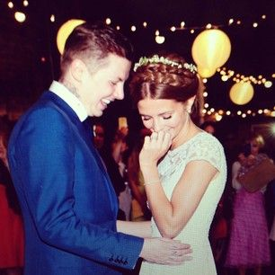 Millie Mackintosh and Professor Green. | 36 Beautiful Celebrity Wedding Photos That'll Make You Want To Get Married Immediately