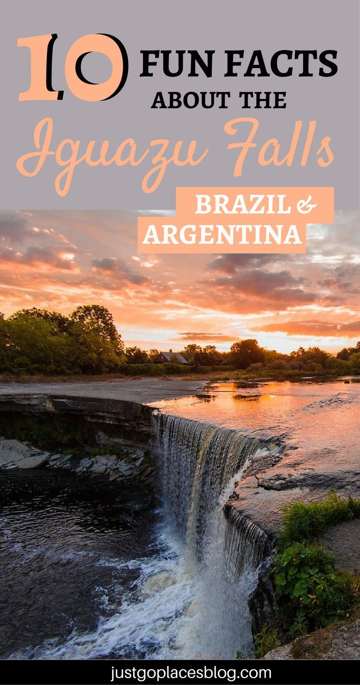 10 fun facts about the Iguazu Falls in Brazil and Argentina that you probably didn't know! | Iguazu falls argentina | Iguazu falls brazile #iguazufalls #argentina #brazil - via @justgoplaces