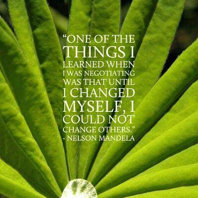 Live in the example of Tata. Change you first because the problems that disturb you in others lies within u
