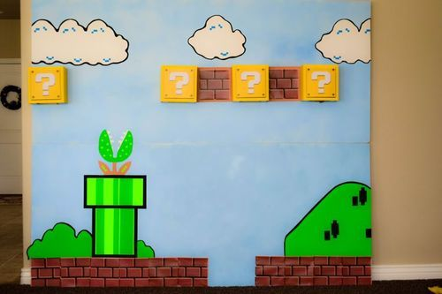 Mario Party  Wall to pose for pictures