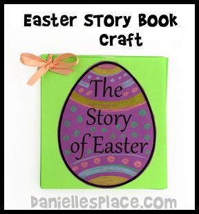 Easter Story Book Bible Craft from www.daniellesplace.com