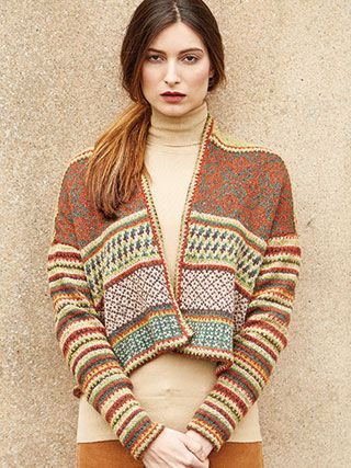 BALFOUR from Rowan Knitting and Crochet Magazine No. 60 (ZM60).  Featuring 2 Stories Tempest & Felted Tweed | English Yarns