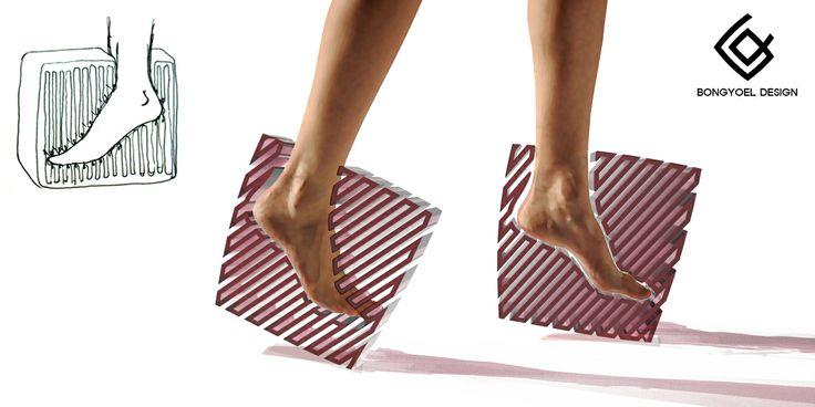 Zigzag Platform High-heel