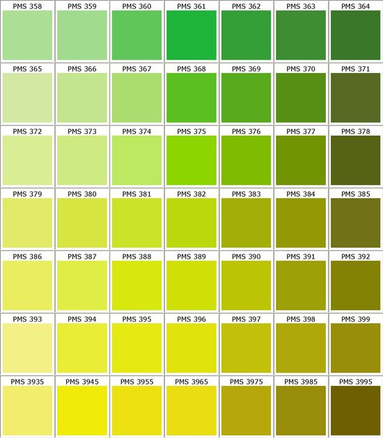 Pantone 377 Is A Pretty Good Match For The Green