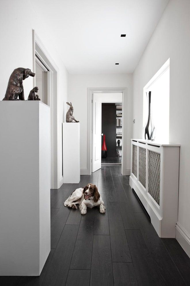 dark wood floors with light cabinets - Google Search