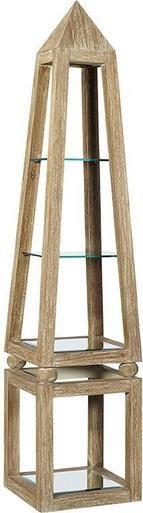Shelves FURNITURE CLASSICS KHAFRA Obelisk Beveled Mirror Mindi Glass New FC-729