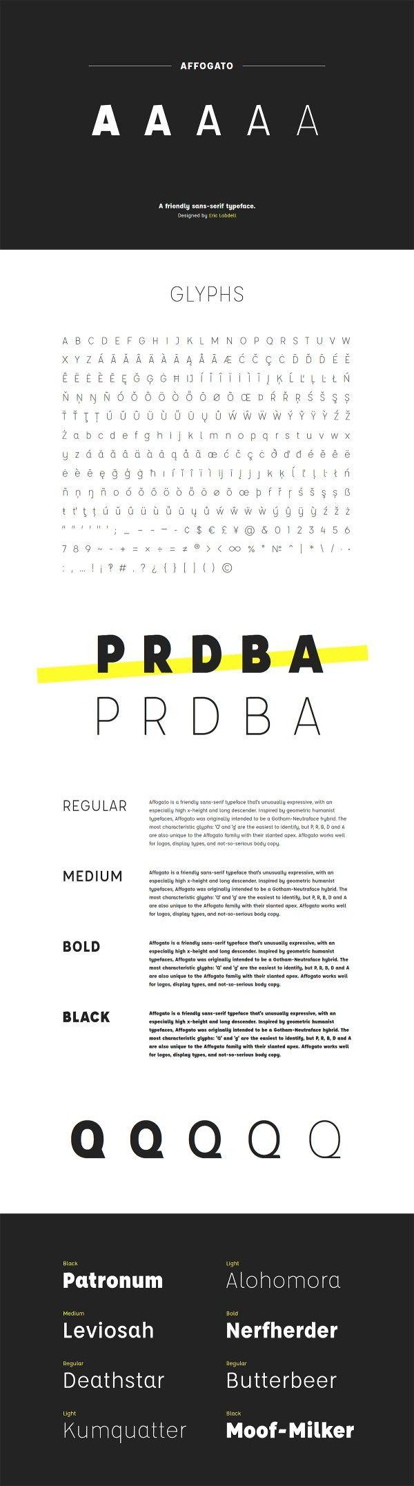 Affogato Free Sans Serif Typeface Sans Serif Typeface Typeface Typography Fonts