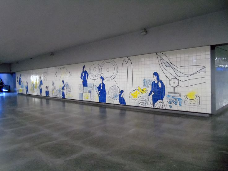 Júlio Resende   Porto   Metro do Porto / Oporto Underground   Estação / Station of Bolhão   2011 [©Ana Almeida] #Azulejo #AzulejoDoMês #AzulejoOfTheMonth #JúlioResende #Porto #Oporto