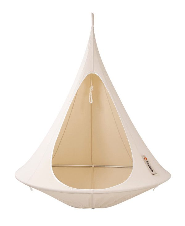for camping, sleeping, or lounging around. cacoon hanging chair, i want this!