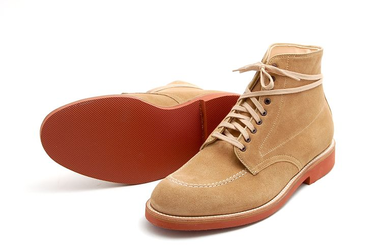 Alden Longwing Blucher in Snuff Suede on the Barrie Last from Leffot NYC