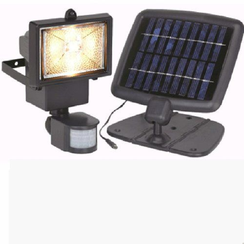 Solar Powered Security Light by Bunker Hill Security. $48.98. With this solar powered security light, the motion of someone driving up to your house or walking up to your door automatically turns on this bright 10 watt quartz lamp, keeps it on for 5 seconds to 2 minutes - adjustable by you - past last motion detected. You can also control this solar powered security light's sensitivity to motion and sensitivity to daylight conditions.      Perfect where there's no outlet: shed, p...