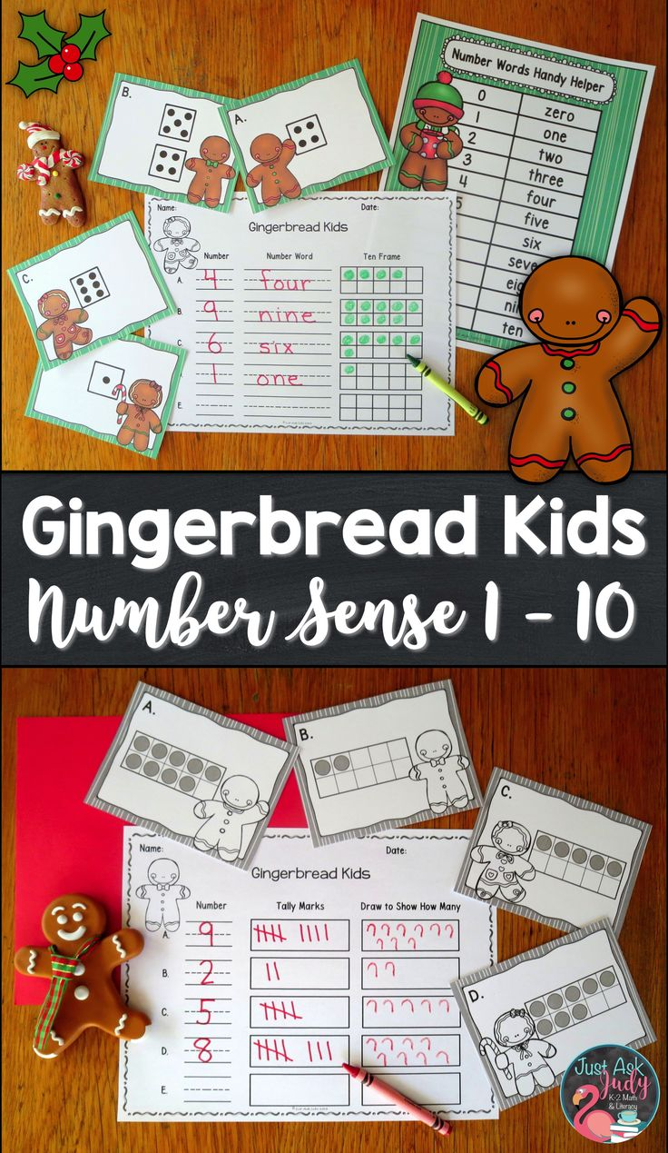 Click to check out this Christmas gingerbread kid themed roam the room small group number sense resource for the numbers 1-10 incorporating dice patterns or ten frames with counting, writing numerals, writing number words, one less, one more, and representing a given quantity by drawing, with tally marks, and on ten frames. This easy to prepare preschool and kindergarten activity gives your students the opportunity to move around the room. $