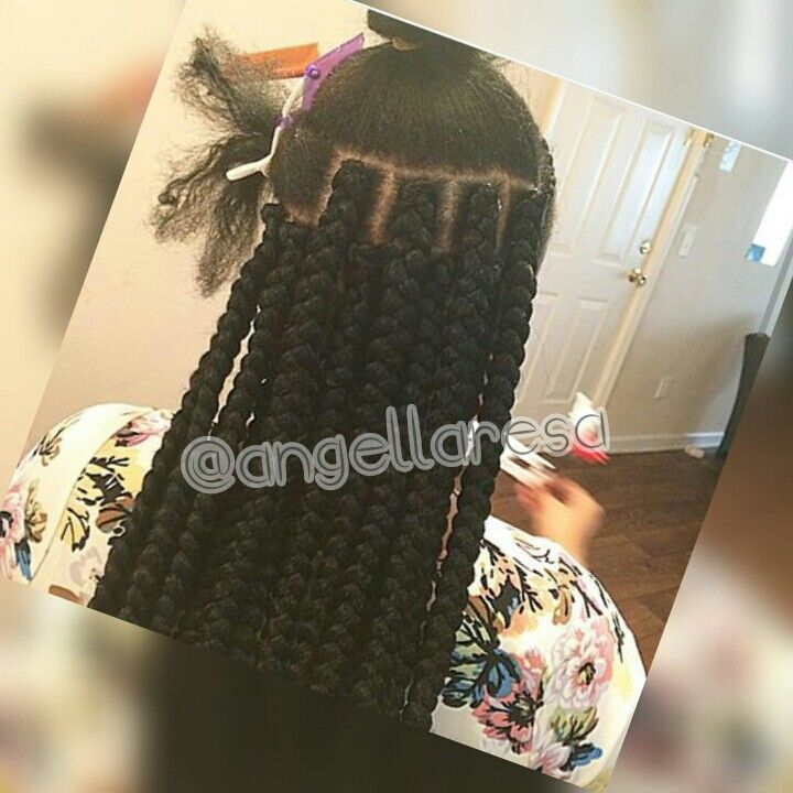 Thick big box braids