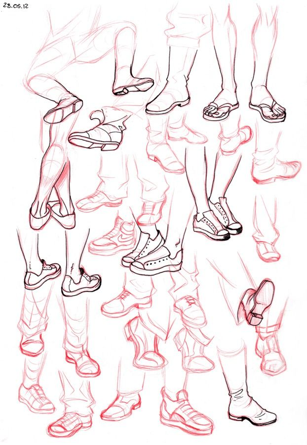 It is an image of Clean Drawing On Feet