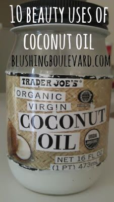 10 beauty uses of coconut oil