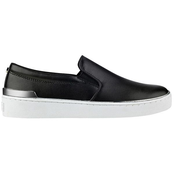 GUESS Deanda Slip-On Sneakers ($69) ❤ liked on Polyvore featuring shoes, sneakers, pull on shoes, guess footwear, pull on sneakers, vegan leather shoes and faux leather shoes