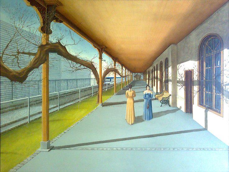 Landscape Painting - No Meeting by Jorge Van de Perre