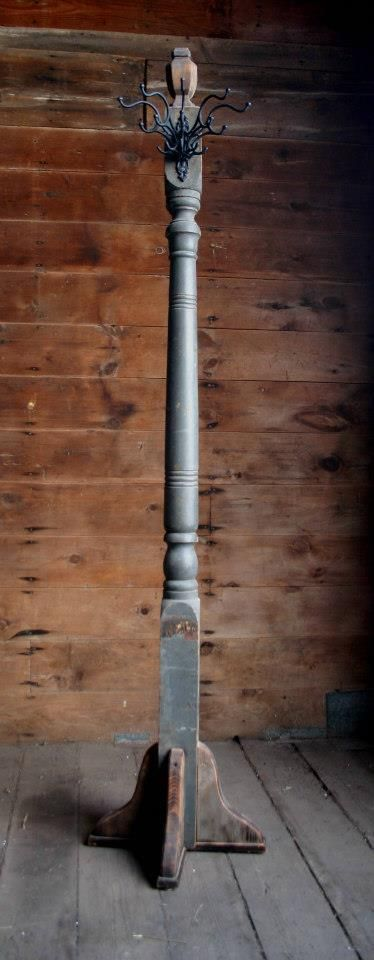 Coat Rack from a reclaimed Porch Post. ~ by Lisa Docter.