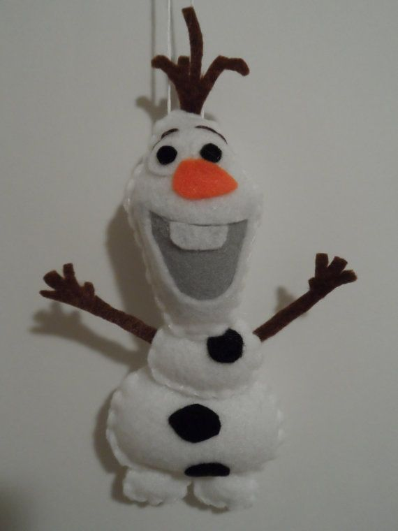 This Olaf ornament is perfect for any Frozen lover's Christmas tree. This Olaf ornament is hand cut, hand sewn, and assembled using hot glue. It is