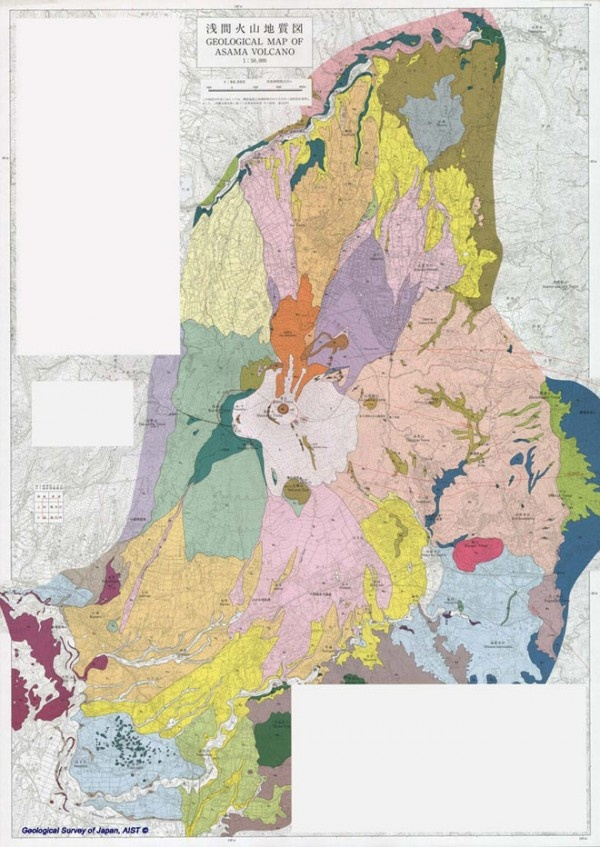 Geological Map of Asama Volcano 33 best