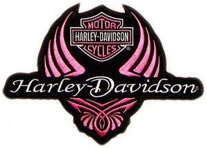 Harley Davidson Logo Clip Art   FREE: Ladies Pink Harley Davidson Logo Stretchable Iron On Transfer ...